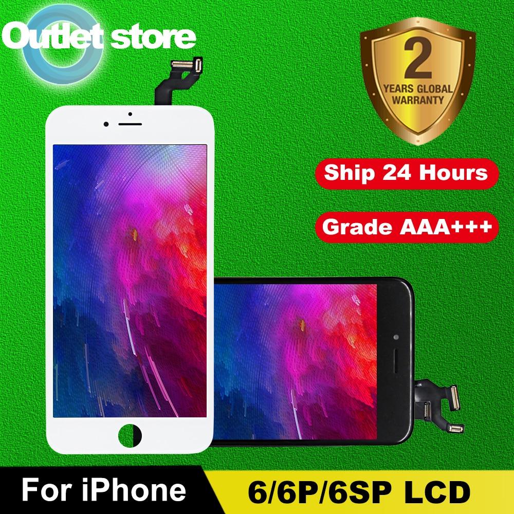 Wyświetlacz LCD AAA + + + dla iPhone 6 6S ekran LCD z doskonałym ekranem dotykowym 3D Digitizer montaż dla 6Plus 6S 7 8 Plus wyświetlacz