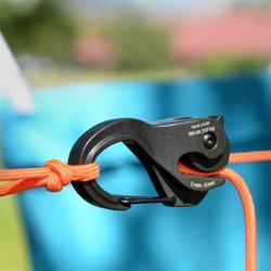280lb carga de trabalho colhedor gancho de corda de ligação de alumínio portátil ligação ferramenta fixa mosquetão clipe acessórios