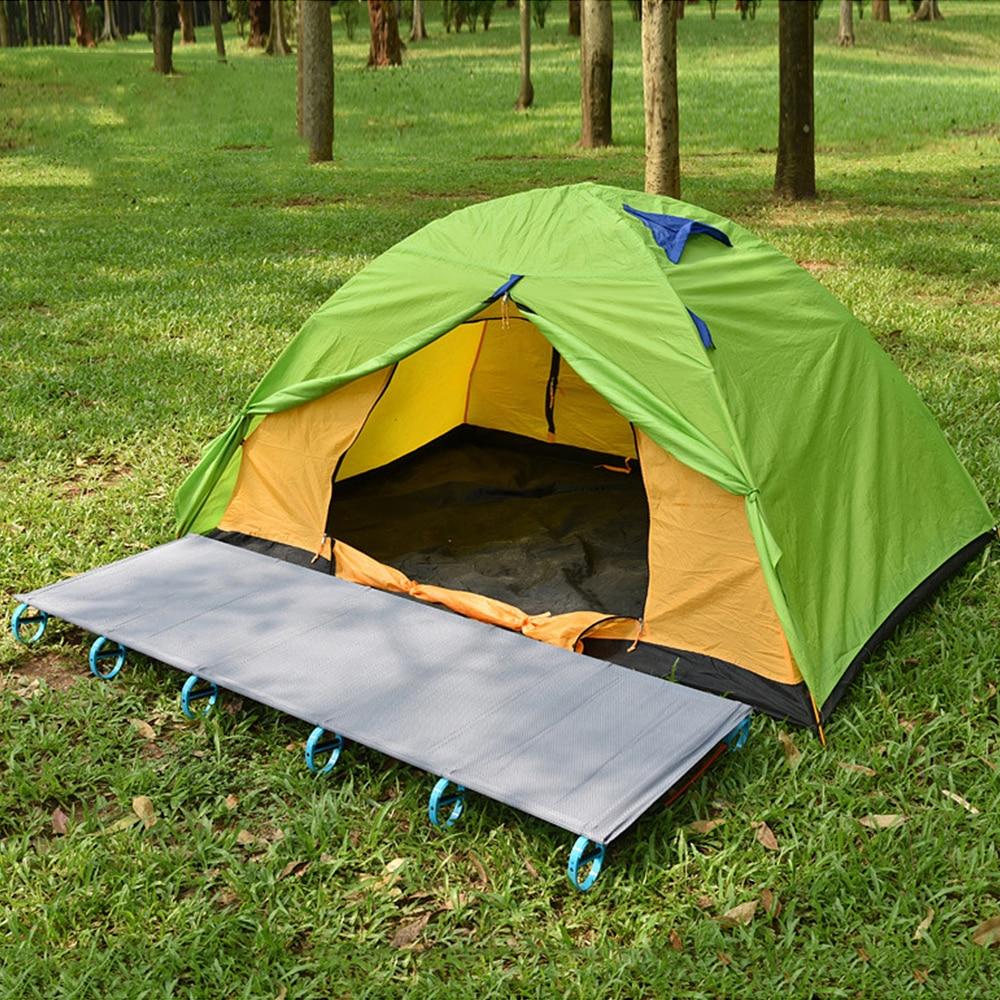 YaeKoo Outdoor Super Ultralight Portable Folding Aluminium Alloy Cot Camping Bed