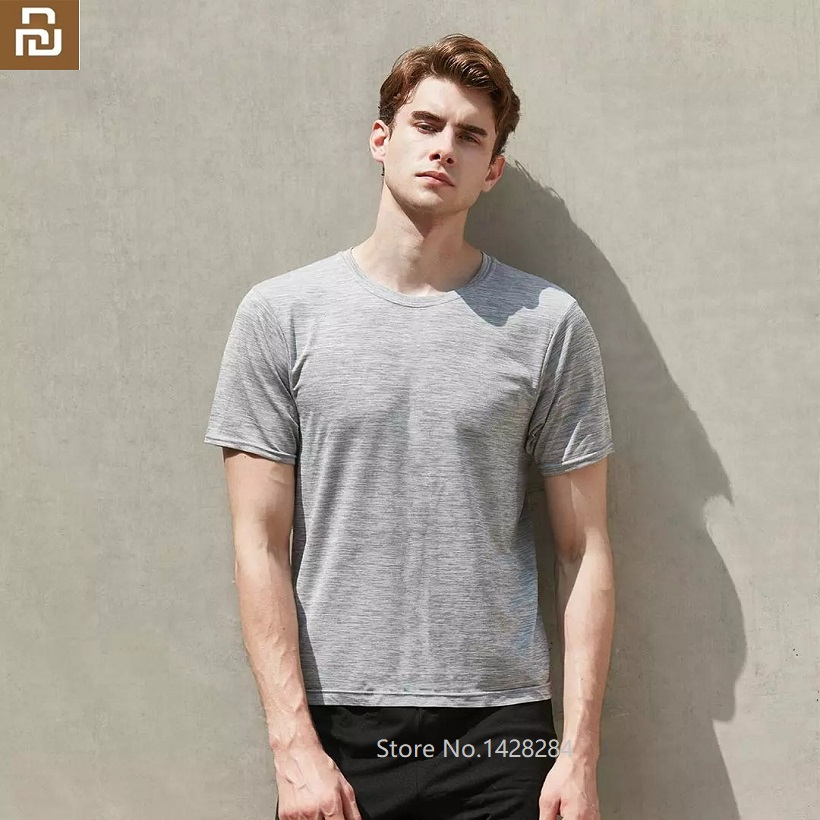 Xiaomi Men's Simple Round Neck Quick-drying Breathable T Shirt Men's Summer Soft And Light Short Sleeve