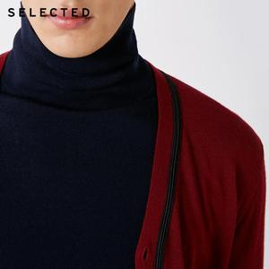 Image 4 - SELECTED 100% Wool Long sleeved Cardigan Pullover Sweater Mens Knitted Clothes T