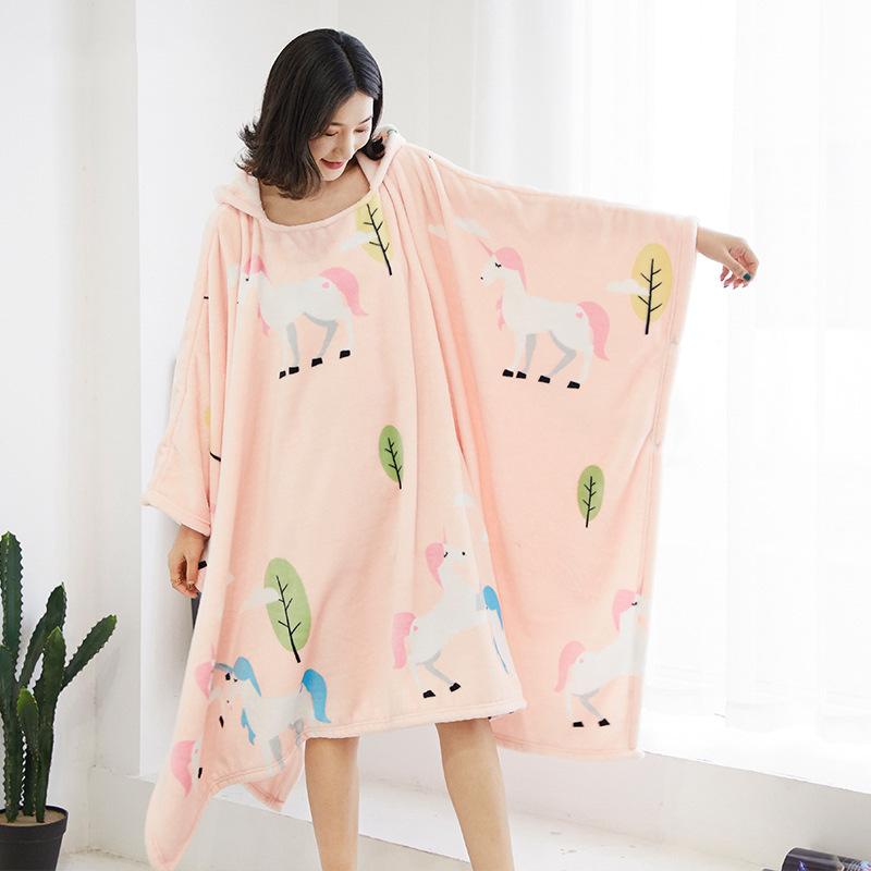 Winter Thick Sofa Comfy TV Blanket Hoodie Sweatshirt Weighted Throw Blanket Fuzzy Fleece Plaid Blanket Fleece Blanket Adult Kids 13