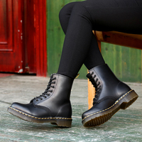 Doc Woman Boots Platform Martins Shoes Woman Leather Wool Winter Warm Winter Boots Women Plus Size Women Shoes 2019 Designers
