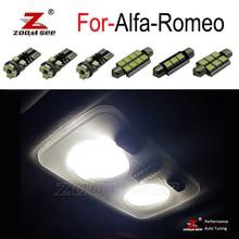 100% מושלם שגיאת משלוח LED פנים הנורה כיפת מפת אור ערכת עבור אלפא רומיאו ג ולייטה מיטו Brera GT עכביש 147 156 159 166
