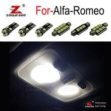 لمبة LED داخلية خالية من الأخطاء مثالية موديل 100% مجموعة إضاءة على خريطة القبة لـ ألفا روميو جيوليتا ميتو بريرا جي تي سبايدر 147 156 159 166