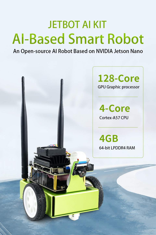 Waveshare Jetbot Ai Kit Nvidia Raccomandazione Ufficiale Ai Robot Sulla Base di Jetson Nano Intelligente Robot