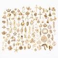 Горячая Распродажа 100 шт. случайные различные древние бронзы, древнее золото, золото, розовое золото, древние серебро-цинковый сплав, различ...