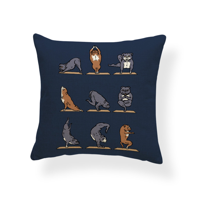 Animal Yoga Cushion Covers 3