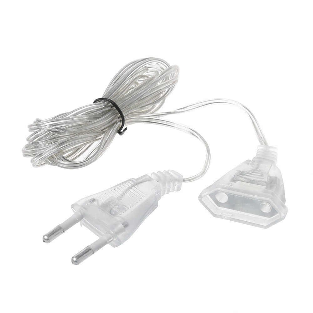 3M/5M Power Extension Cable Extender Wire For LED String Light Christmas Holiday Lights EU Plug