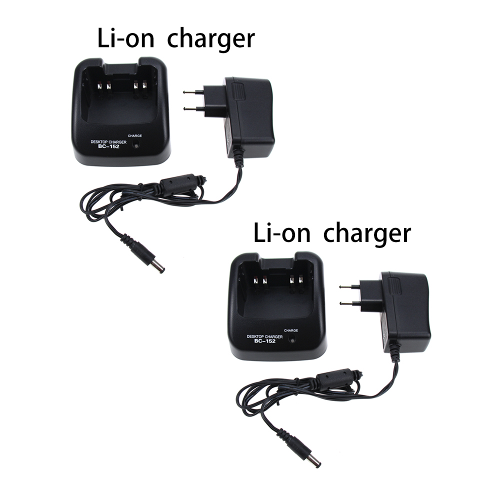 2Pcs Walkie Talkie Rapid Desktop Charger For Icom F50/60 Ra 110-240VIC-F4360 F4261 F4161 F4101 F4011 F3360 F3261 F3161 Radio