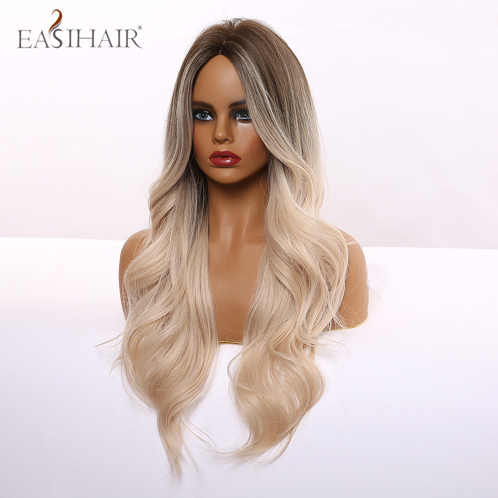 EASIHAIR Long Light Blonde Ombre Natural Wave Style Wigs Heat Resistant Synthetic Wigs Middle Part Hair Cosplay Wigs for Women Herbal Products cb5feb1b7314637725a2e7: lc133-1|lc179-9|lc189-3|lc237-3|lc254n-1|lc273n-1|lc277-1|lc277-2|lc283-1|lc289-1|lc294-1|lc295-1|lc301-1|lc307-1|lc309-1