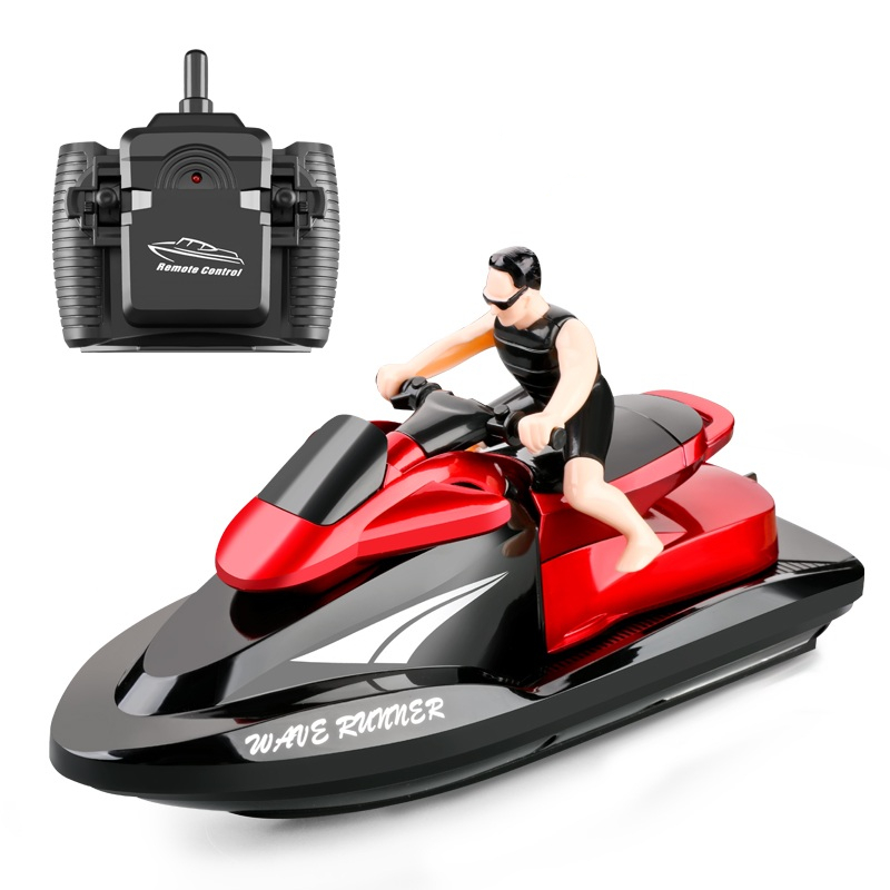 2.4G RC Motorboat Wireless Remote Control Ship Boat High Speed Electric Shipboat Model Kids Toys 20 KM/H