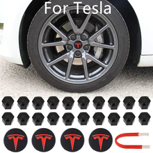 For Tesla Aluminum Model 3/ S/ X /Wheel Center Caps Hub Cover Screw Cap Logo Kit Decorative Tires Cap Modification Accessories
