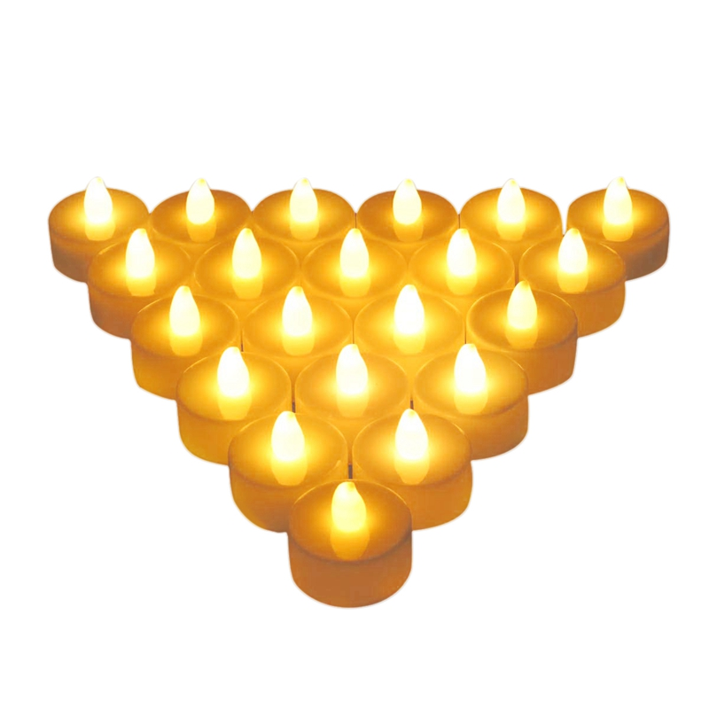 Flameless Candles, LED Tea Light Candles with Battery-Powered Wedding Candles Decorations for Parties Events Tealight Candles (2