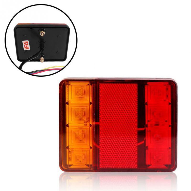 8 LED Car Motor Truck Trailer RV Taillight Rear Lamp