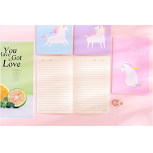 1pcs/lot Lovely Dream girl Unicorn Note book Diary Agenda Sketchbook Stationery Notebooks and Journals Planner