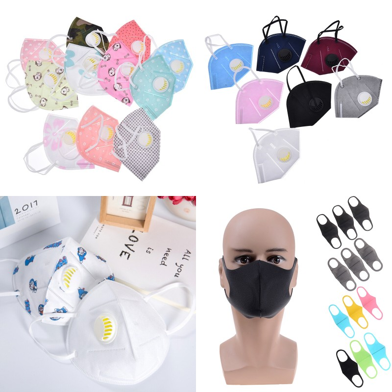 Cotton PM2.5 Activated Carbon Filter Respirator Mouth-muffle Mask Face Anti Haze Mask Breath Valve Anti-dust Mouth Mask