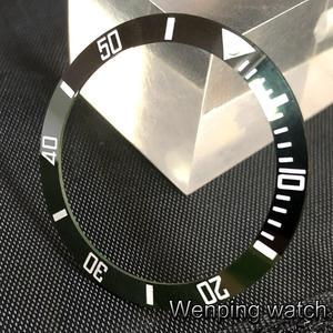 Image 3 - New 38mm high quality black/green ceramics bezel Insert fit 40mm watch
