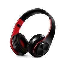 หูฟังไร้สายบลูทูธหูฟังสเตอริโอหูฟังบลูทูธชุดหูฟัง FM พร้อมไมโครโฟนหูฟังสนับสนุนการ์ด SD
