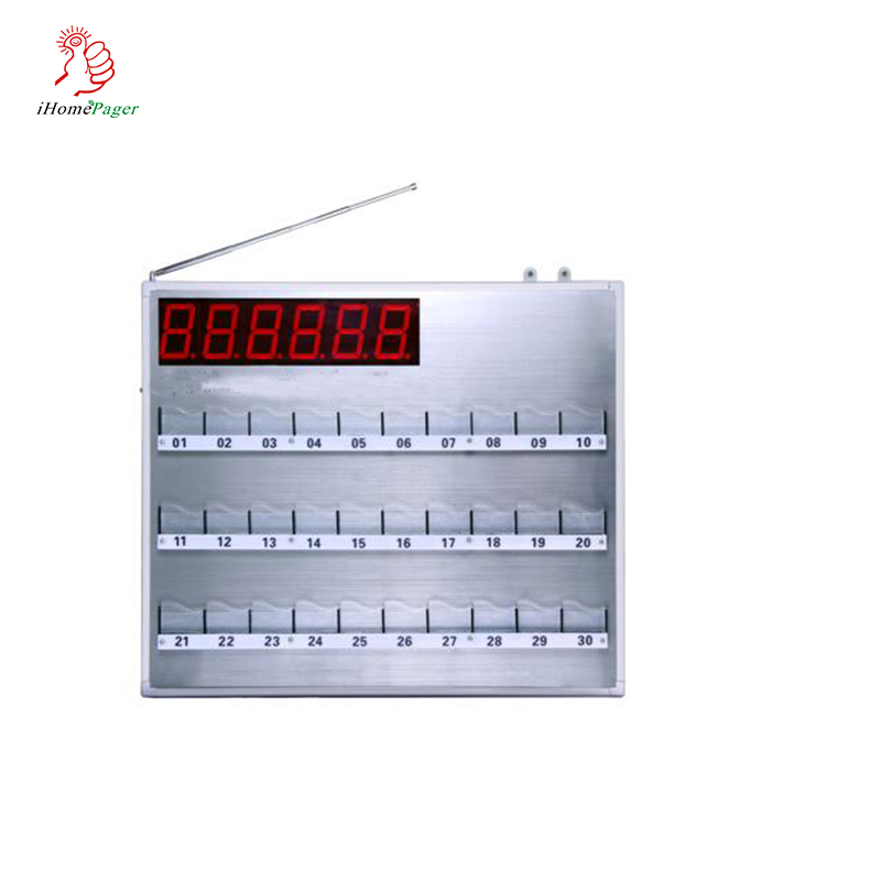 Wireless Nurse Call System Hospital Board Display With Hand Held Remote Controlle Show Room Number and Bed Number with 30 Lights