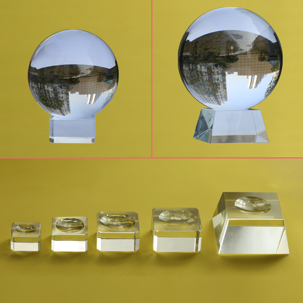 Glass Display Stand For Large Crystal Ball 40 50 60mm 80mm 100mm Big Globe Base Lensball Support Magic Sphere Holder Paperweight