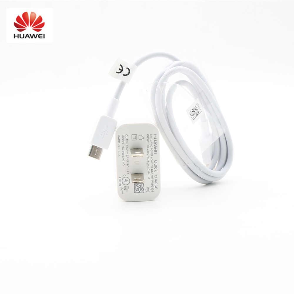 الأصلي هواوي USB سريع مهايئ شاحن لنا السفر + كابل البيانات مايكرو USB ل نوفا 3i 2i زميله 7/8/S P8 لايت/P10 لايت الشرف 8x 7i