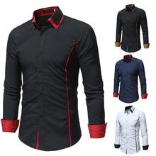 Brand Camisa Masculina Long Sleeve Shirt