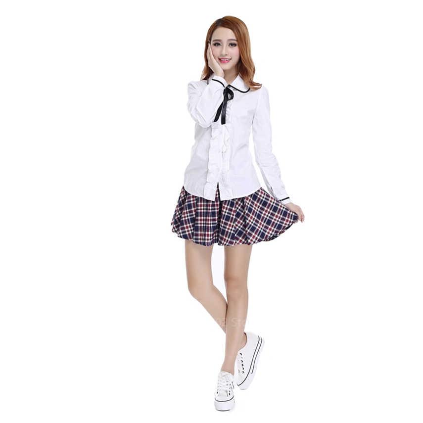 2020 กะลาสีJKชุดนักเรียนญี่ปุ่นสไตล์ผู้หญิงเสื้อ + ชุดกระโปรงลายสก๊อตกระโปรงสำหรับสาวเสื้อผ้าแฟชั่นสไตล์เกาหลีอะนิเมะ