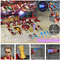 Iron Man Action Figure Mark 85 and Mark 50 Armors with LED Weapons 6inch 6