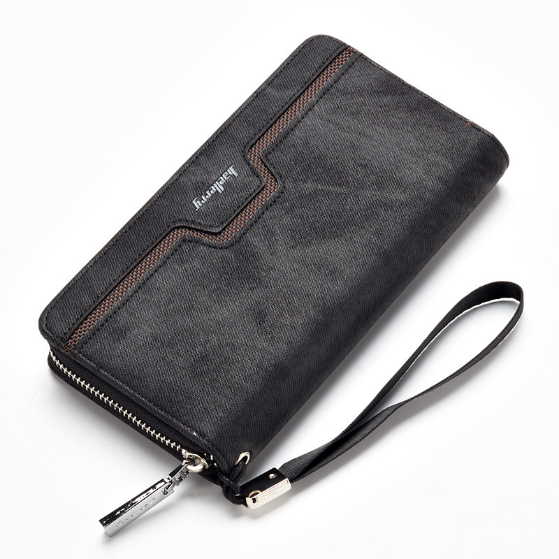 Baellerry 2020 New Men Wallet Canvas Purse And Handbags For Male Luxury Brand Zipper Men Clutches High-capacit Phone Bag