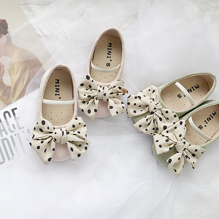 Autumn New Korean  Girl Shoes Baby Lovely Bow-knot Princess Shoes Soft-soled Shallow-mouthed Single Shoes For Baby Performance