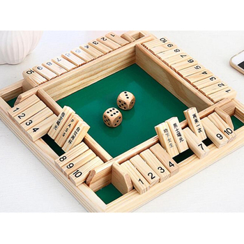 Traditional Family Flap Dice Shut The Box Entertainment Child Gift Educational Toy Wooden Board Game Kids Number Drinking Funny