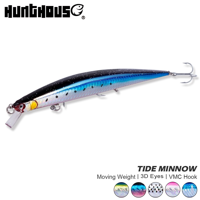 Hunthouse Fishing Lure 2019 Tide Minnow Slim 175 Hard Lures Wobblers Floating 175mm 24.5g Sea Fishing For Seabass