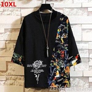 Image 1 - スーパー特大プラスサイズ潮ブラザー秋ルースラウンドネック半袖tシャツ厚い紳士服 10XL 11XL 9XL