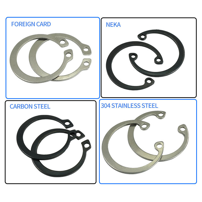 Size : 160PCS no logo 100//160Pcs External Retaining Circlips C-Clip Washers Snap Retaining Ring Internal Circlip Carbon Steel M6-M25 Assortment Kit