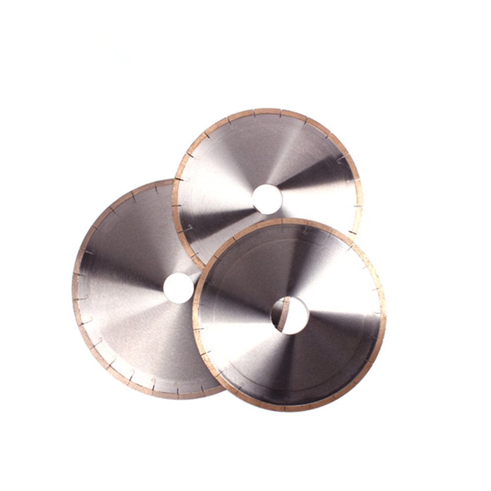 DB23 Customized Size D600mm 24Inch Fish Hook Diamond Saw Blades Continuous Segments Cutting Disc For Ceramic One Piece