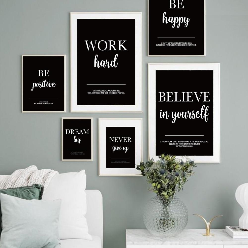 Traum Arbeit Motivation Wand Kunst Leinwand Malerei Motivations Poster Und Drucke Wand Bilder für Wohnzimmer Büro Wand Dekor