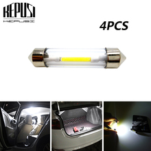 Car led 4x Festoon 31mm 36mm 39mm 41mm car COB LED Bulb C5W C10W White Car Dome reading Map Light Auto Interior Lamp DC12V festoon 39mm 6w 420lm 6 cob led white light car auto reading lamp dome bulb 12v 2 pcs