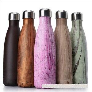 Image 4 - FSILE 500/1000 мл с двойными стенками изолированный термос Нержавеющаясталь воды колы бутылки воды пива термос для Спортивная бутылка/6