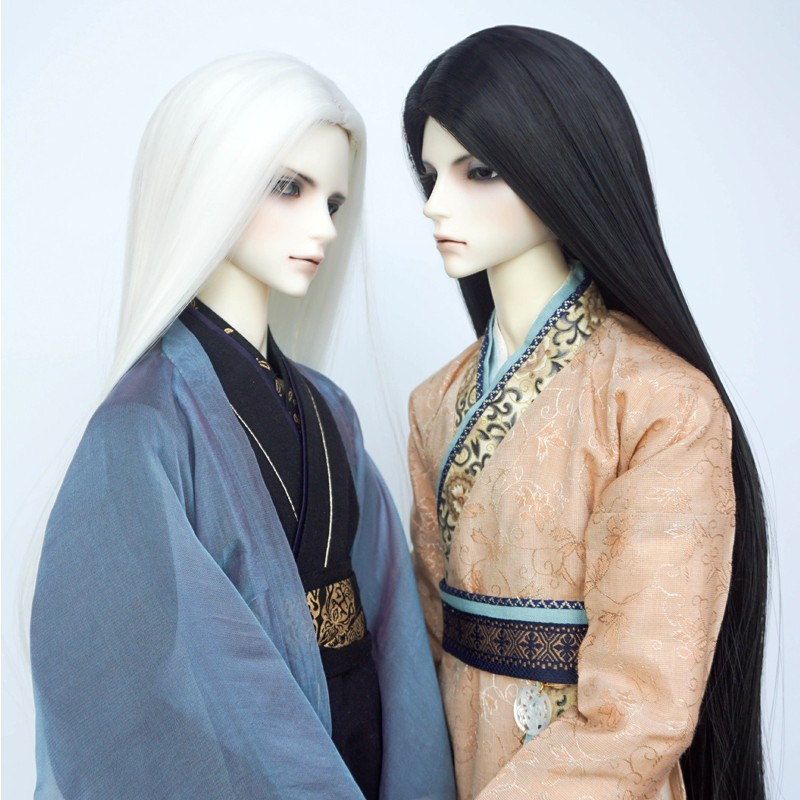 1/3 1/4 1/6 Scale BJD Wig Black White Hair For BJD/SD Doll Accessories Free Shipping