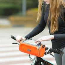 Большая сумка для телефона на руль велосипеда водонепроницаемая