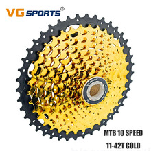 VG Sports Cassette 10 Speed 11-42T Mountain Bicycle Freewheel 10S 10V Golden Sprocket for Shimano Sram cdg cog Velocidade 42T