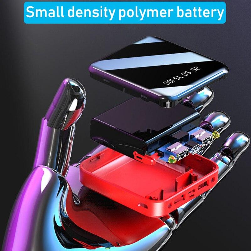 Image 3 - Mi ni 30000mAh batterie externe pour iPhone 8 XS Xiao mi Powerbank chargeur de banque Portable 2 Ports Usb batterie externeBatterie externe   -
