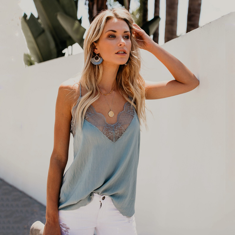 Sexy Lace Sling Tops And Blouses Women's Solid Color Open Back Summer Beach Style Female Tops Clothes Street Bottom Girl Shirts