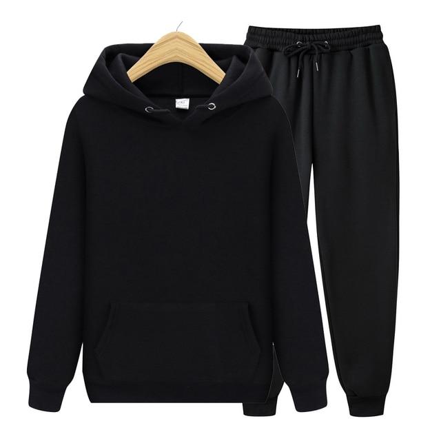 Men's Sets Hoodies+Pants Autumn Winter Hooded Sweatshirt Sweatpants Fashion Slim Fit Men Set Hoodie Pant Hip Hop Pullover Hoody 2
