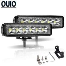 6Inch 12V LED Work Light Bar Set 18W Spotlight Fog Lamp Offroad Car Accessories Led for Ford Toyota ATV SUV UTV Trucks