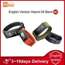 """ภาษาอังกฤษรุ่น Xiaomi Mi 4 C 4C Smartband Heart Rate Fitness Tracker 1.08 """"หน้าจอสี BT5.0 USB ชาร์จสร้อยข้อมือสมาร์ท"""