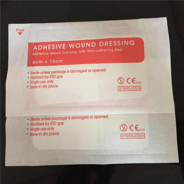 10 Pcs Hypoallergeen Non-woven Medische Lijm Wondverband Band Aid Bandage Grote Wond Ehbo Outdoor 2 Size