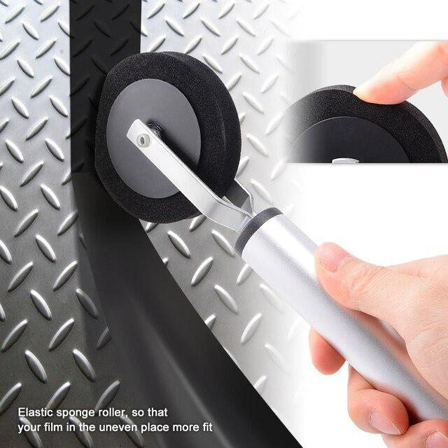 FOSHIO 탄소 섬유 비닐 포장 스폰지 고무 스퀴지 창 유리 착색 롤러 도구 갭 필름 자동차 액세서리 설치
