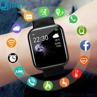 Reloj inteligente de silicona para hombre y mujer, pulsera con pantalla a Color, rastreador de Fitness, para Android e IOS, 2021